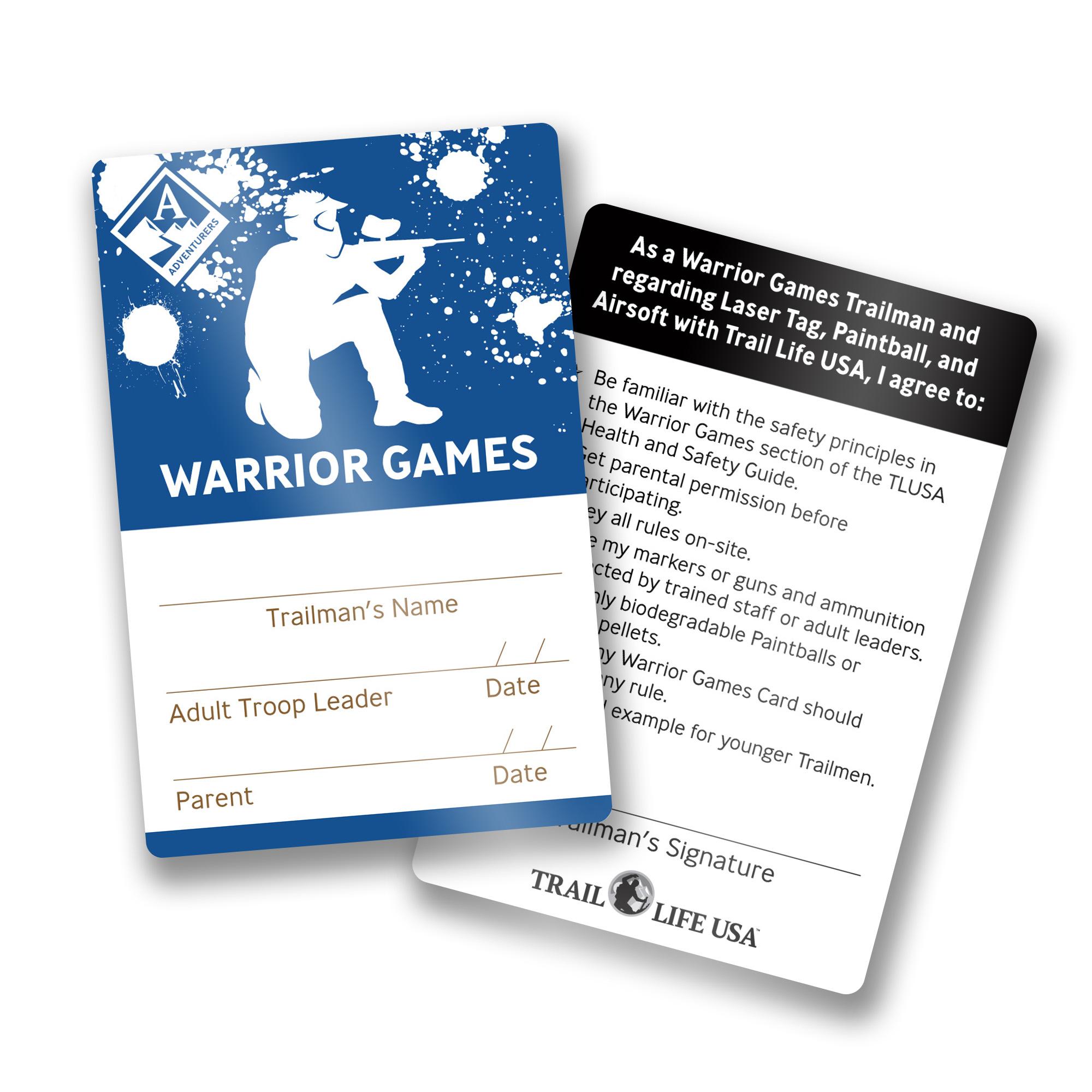 Adventurer Tracking Cards - Trail Life USA
